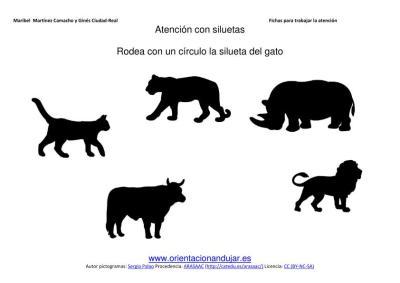 siluetas animales domesticos gato