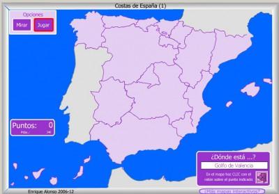 COSTAS de España DONDE ESTA