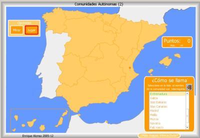 Comunidades Autónomas de España COMO SE LLAMA