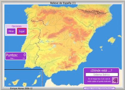 RELIEVE de España DONDE ESTA