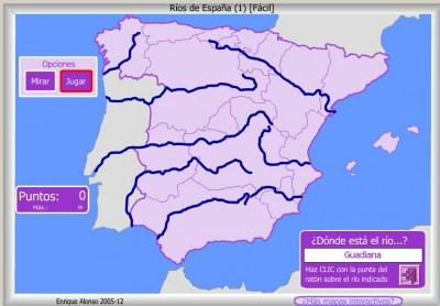 RIOS de España FACIL DONDE ESTA