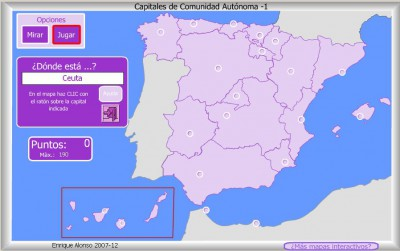 cAPITALES Comunidades Autónomas de España DONDE ESTA