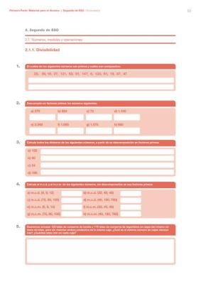 cuaderno de verano matematicas 2 ESO imagen