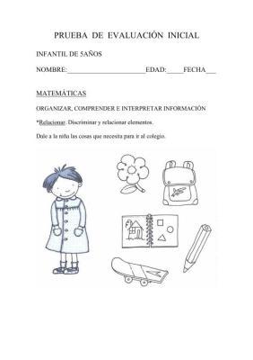 INICIAL INFANTIL 5 AÑOS MATEMATICAS