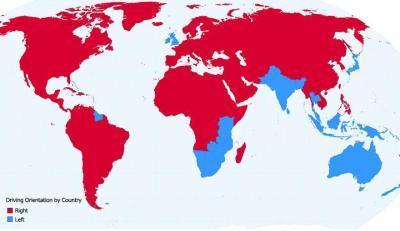 Orientación al conducir por países