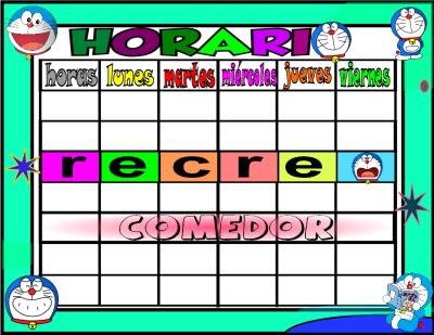 horario 6 HORAS-comedor-1 doraemon