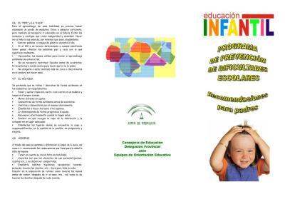 informar a padres de alumnado de nueva escolarización (Infantil 3 años)  IMAGEN