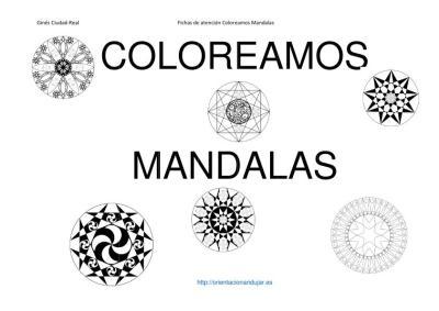 COLOREAMOS MANDALAS PARA INICIO DE CURSO imagen