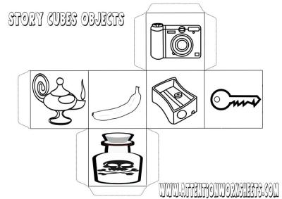 story cubes objects printables image