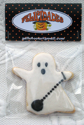 GALLETAS DE HALLOWEEN TERMINADAS FANTASMA