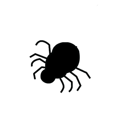 araña silueta