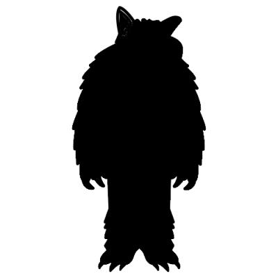 hombre lobo silueta