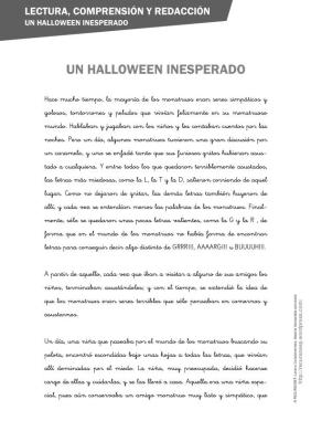 lectura comprensiva un halloween diferente