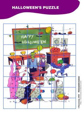 puzle de halloweeen EN IMAGENES