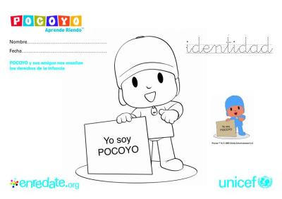 Videos Y Fichas Para Colorear Pocoyo Y Los Derechos De La Infancia