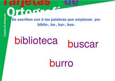 tarjeta b-6 biblio-, bu-, bur-, bus- imagen