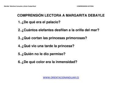 COMPRENSIÓN LECTORA A MARGARITA DEBAYLE IMAGEN 2