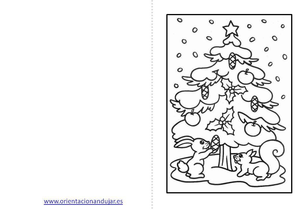 Christmas de Navidad para colorear -Orientacion Andujar