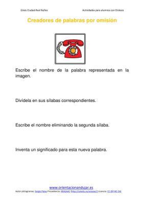Ejercicios para niños con dislexia Omisión de sílabas imagenes_02