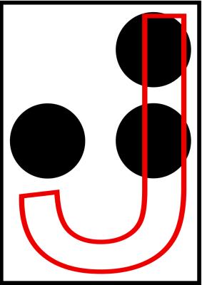 braille letra j