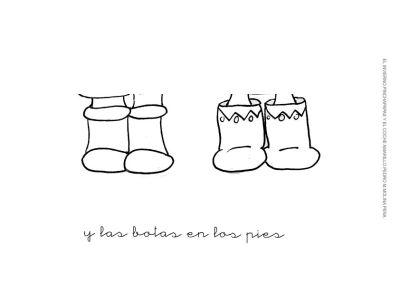 7.y las botas en los pies