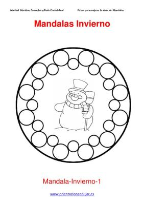 Mandalas para colorear en Invierno Orientacion andujar imagenes (1)