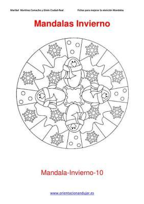 Mandalas para colorear en Invierno Orientacion andujar imagenes (10)