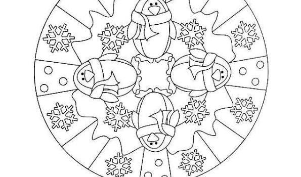 Mandalas para colorear en Invierno Orientacion andujar imagenes (10 ...