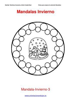 Mandalas para colorear en Invierno Orientacion andujar imagenes (3)