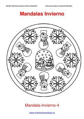 Mandalas para colorear en Invierno Orientacion andujar imagenes (4)