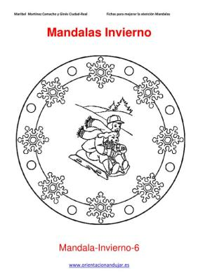 Mandalas para colorear en Invierno Orientacion andujar imagenes (6)