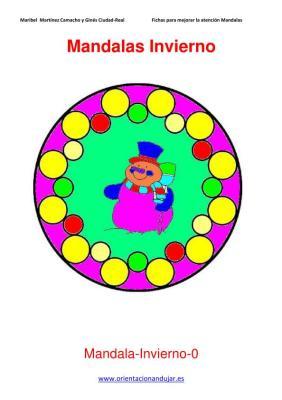 Mandalas para colorear en Invierno Orientacion andujar imagenes