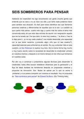 Tecnica de los 6 sombreros de edward bono