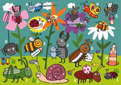 insectos y letras