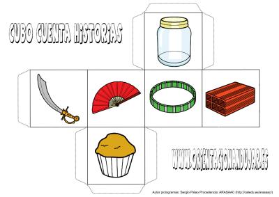cubo para contar historias color objetos 1