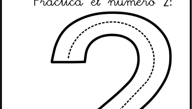 Lectoescritura De Numeros El 2 Ficha 0