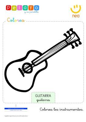 colorea los instrumentos musicales en  imagenes_5