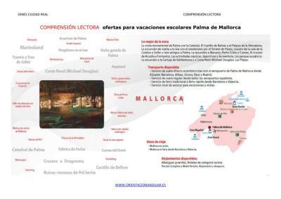 COMPRENSIÓN LECTORA  ofertas para vacaciones escolares Palma de Mallorca imagen 2