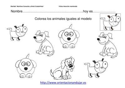 colorea los animales iguales al modelo nivel inicial imagenes_6