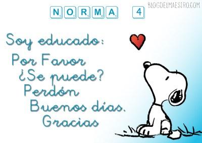 NORMAS DE CLASE 4