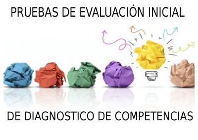 PRUEBAS DE EVALUACION INICIAL DE DIAGNOSTICO DE COMPETENCIAS