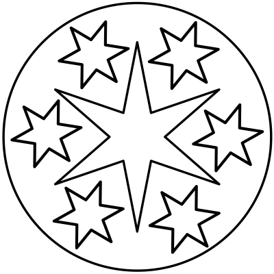 mandala estrella 6