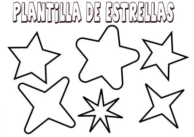 plantilla para estrellas