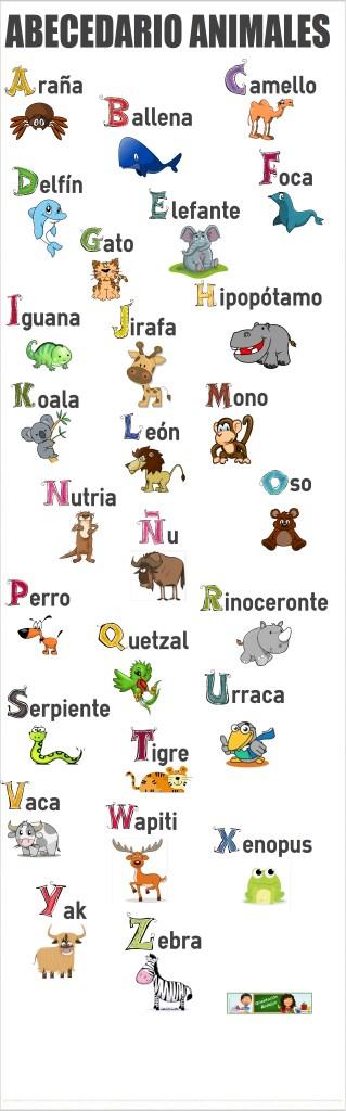 el abecedario de los animales