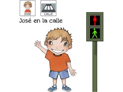 Cuentos para niños con pictogramas TEA ACNEAE Rutinas José en la Calle