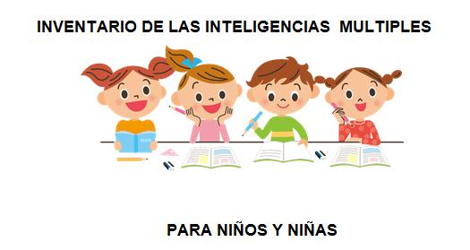 Inteligencias Multiples Inventario O Test Para Niños Y Niñas Orientacion Andujar