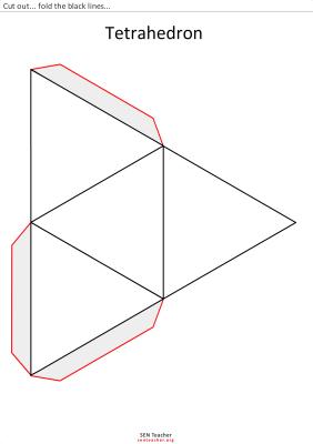 tetraedro para recortar