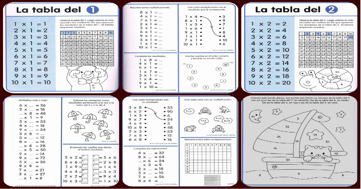 Impresionante cuaderno de repaso. Tablas de multiplicar + Tablas poster