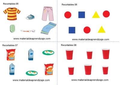 Colección de ficha para trabajar razonamiento Lógico matemático educación Infantil31