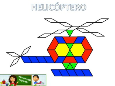 Medios de transporte con Pattern Blocks Mats helicoptero